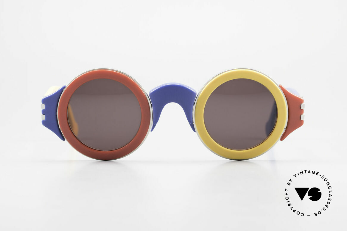 Karl Lagerfeld 3604 Bunte Runde 80er Brille Limited, runde bunte Designersonnenbrille von Karl Lagerfeld, Passend für Herren und Damen