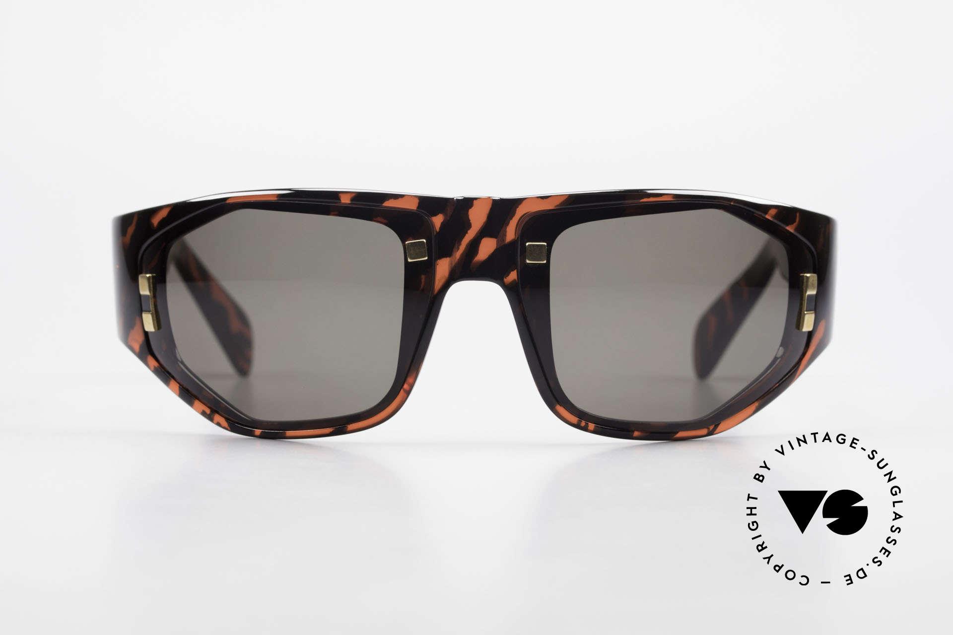Paloma Picasso 3701 90er Wrap Sonnenbrille Damen, spektakuläre Form mit temperamentvollen Muster, Passend für Damen