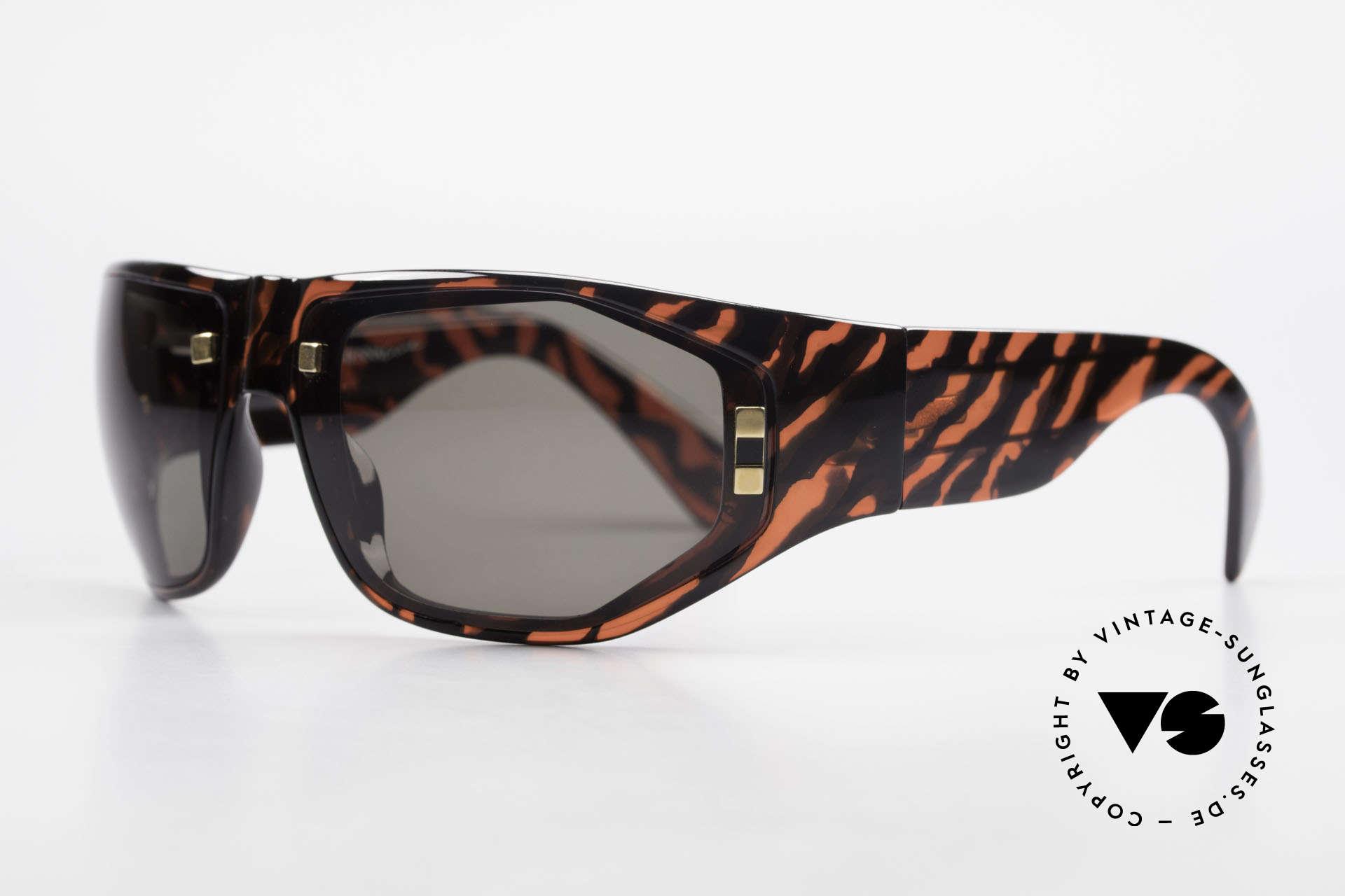 Paloma Picasso 3701 90er Wrap Sonnenbrille Damen, noch ein Meisterwerk vom Künstler-Haus Picasso!, Passend für Damen