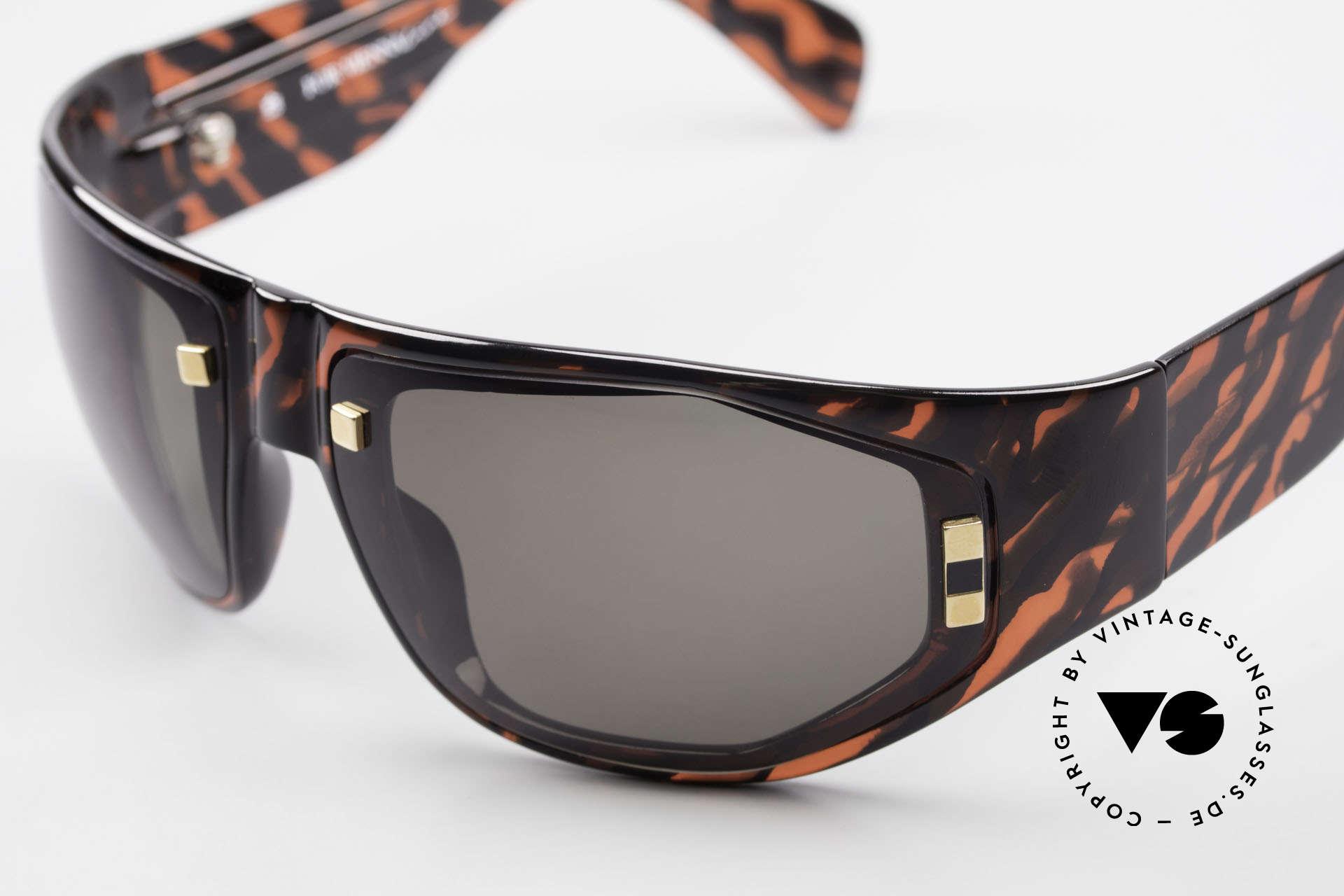 Paloma Picasso 3701 90er Wrap Sonnenbrille Damen, von 1990, doch das Optyl-Material glänzt wie neu, Passend für Damen