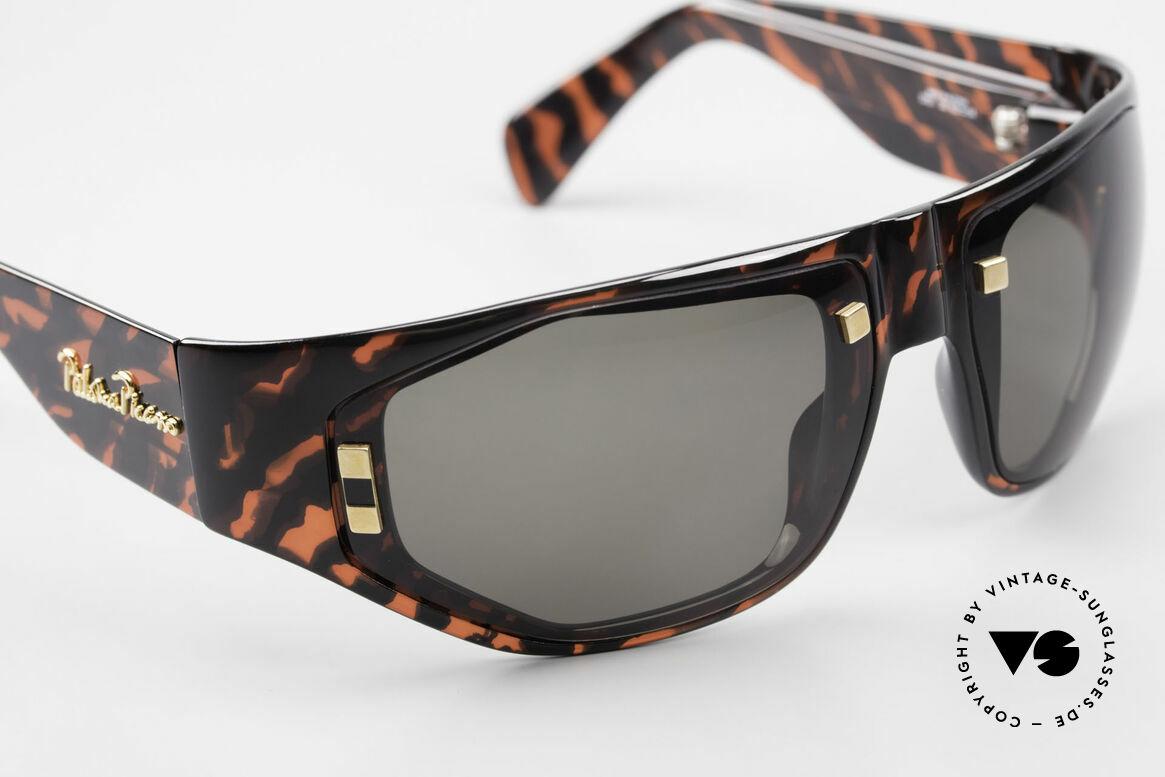 Paloma Picasso 3701 90er Wrap Sonnenbrille Damen, Wrap Around Design: Rahmen umhüllt das Gesicht, Passend für Damen