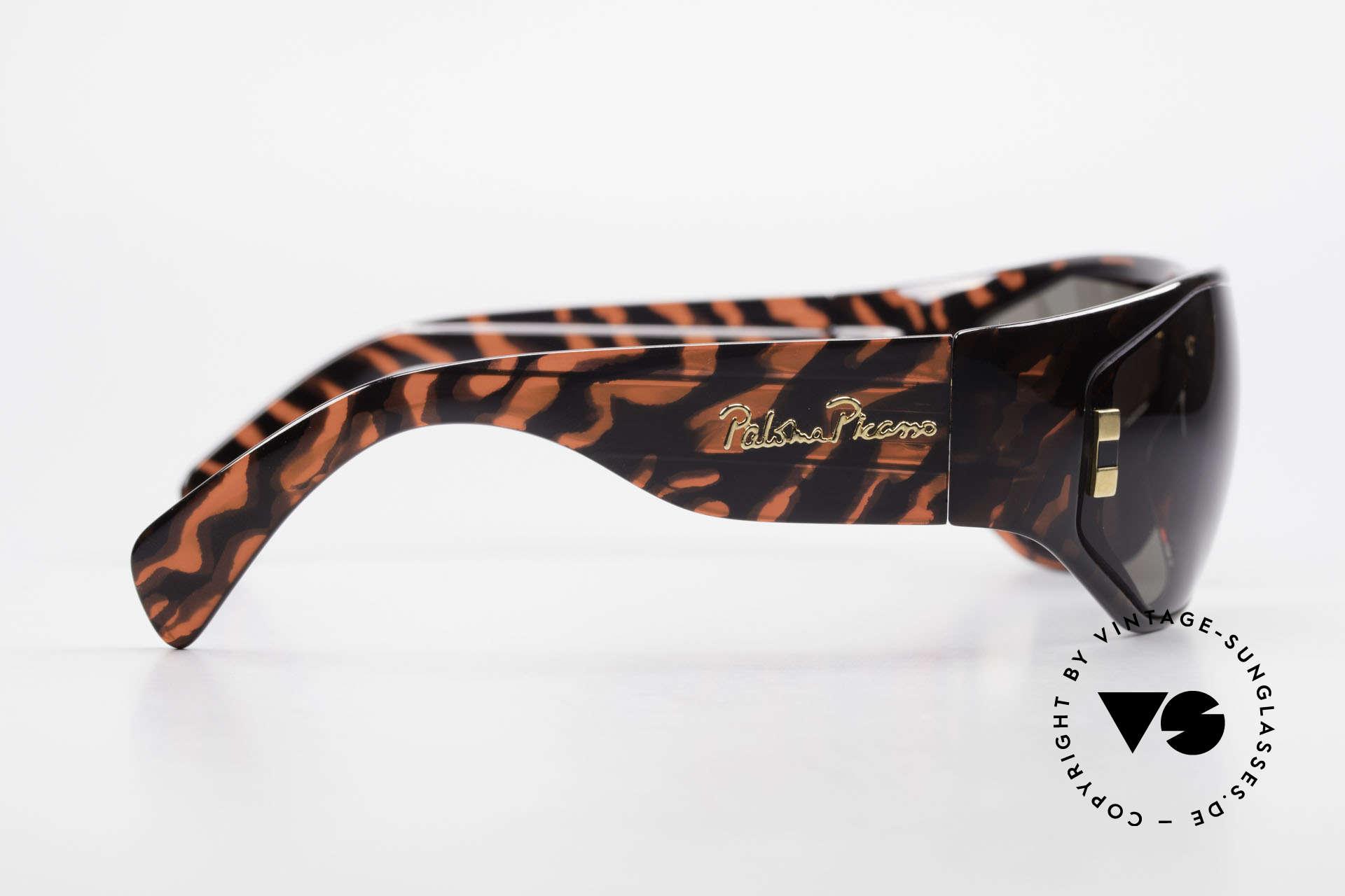 Paloma Picasso 3701 90er Wrap Sonnenbrille Damen, ungetragen; wie alle unsere 90er vintage 'Schätze', Passend für Damen