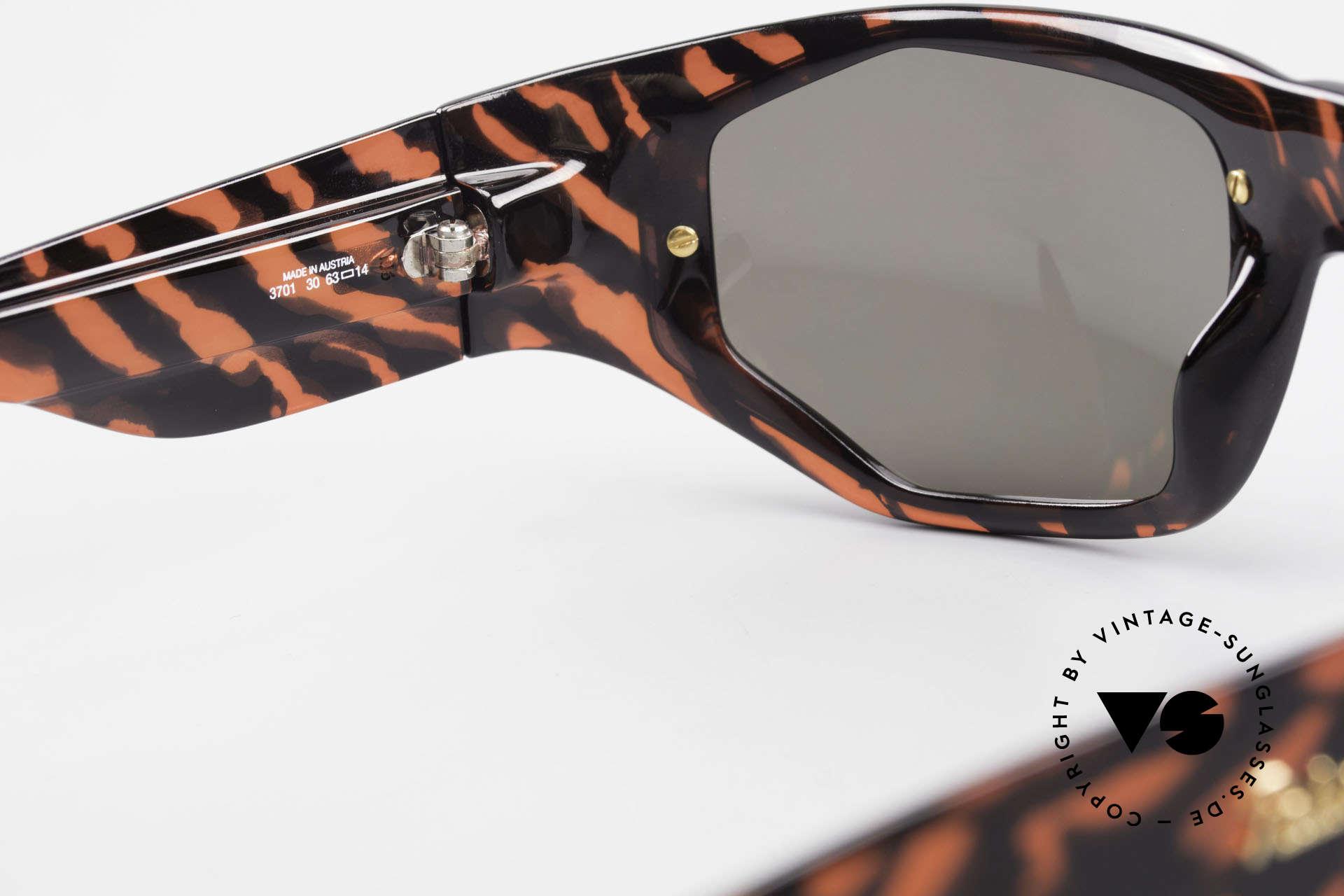 Paloma Picasso 3701 90er Wrap Sonnenbrille Damen, Keine Reproduktion, sondern ein stolzes Original!, Passend für Damen
