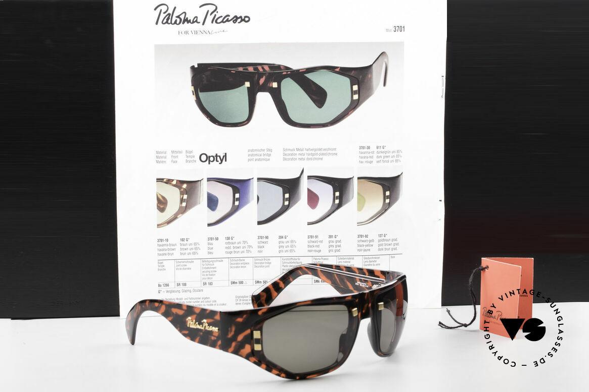 Paloma Picasso 3701 90er Wrap Sonnenbrille Damen, Größe: medium, Passend für Damen