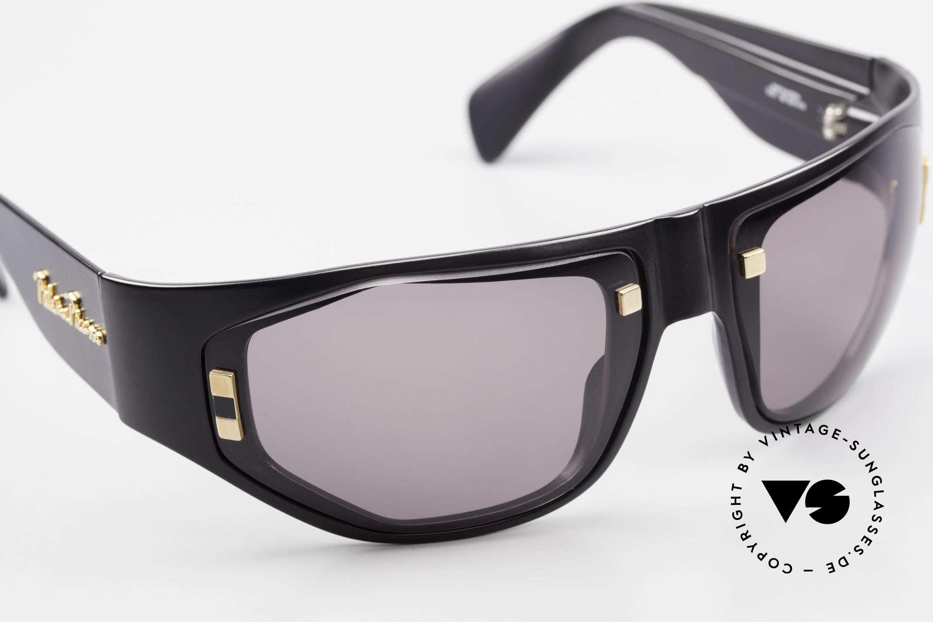 Paloma Picasso 3701 90er Damen Wrap Sonnenbrille, Wrap Around Design: Rahmen umhüllt das Gesicht, Passend für Damen