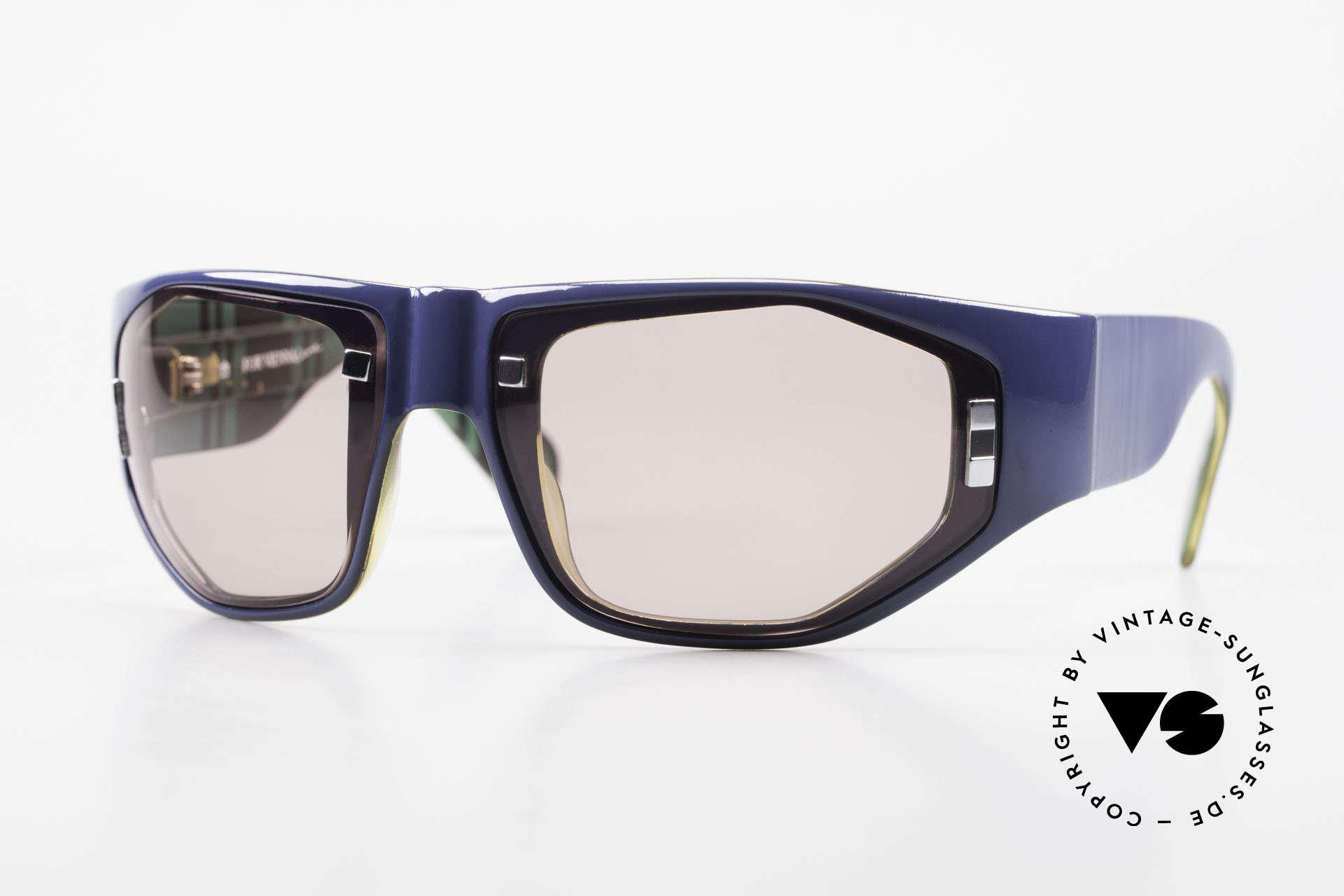 Paloma Picasso 3701 Wrap Around Sonnenbrille 90er, Damen Designer-Sonnenbrille von Paloma Picasso, Passend für Damen