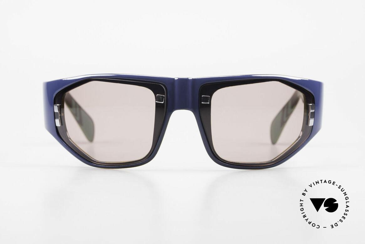 Paloma Picasso 3701 Wrap Around Sonnenbrille 90er, spektakuläre Form mit temperamentvollen Muster, Passend für Damen