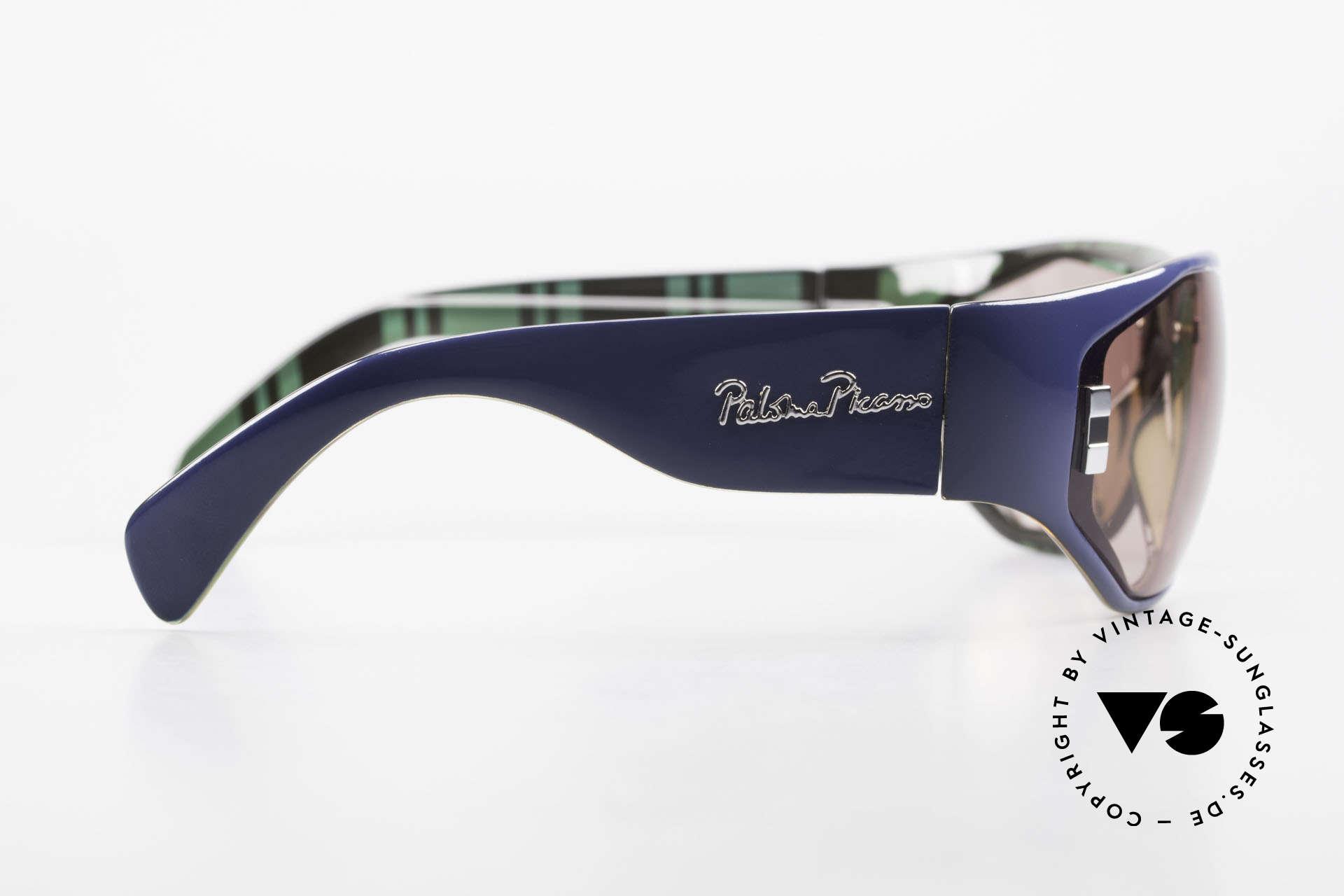Paloma Picasso 3701 Wrap Around Sonnenbrille 90er, ungetragen; wie alle unsere 90er vintage 'Schätze', Passend für Damen