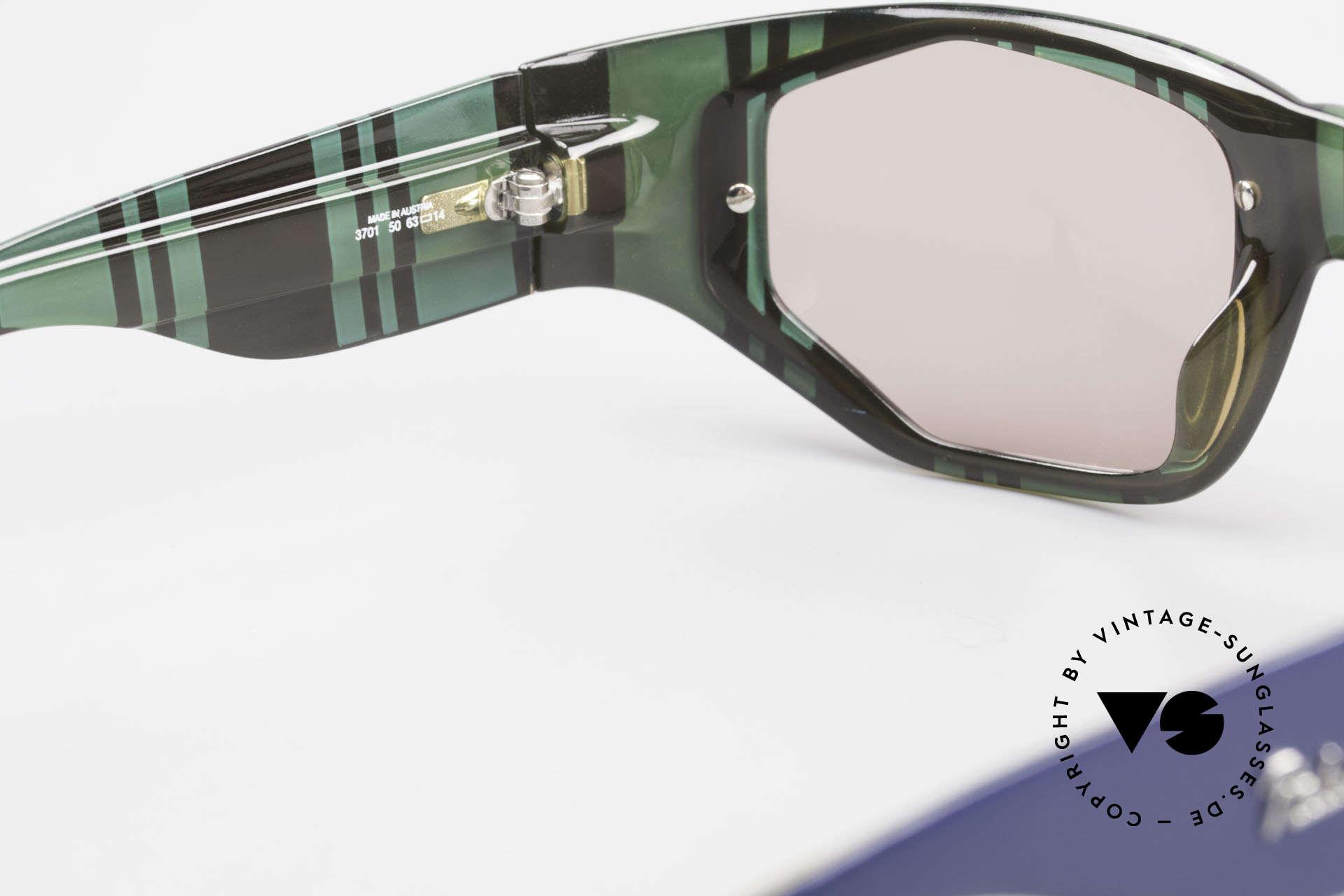 Paloma Picasso 3701 Wrap Around Sonnenbrille 90er, Keine Reproduktion, sondern ein stolzes Original!, Passend für Damen
