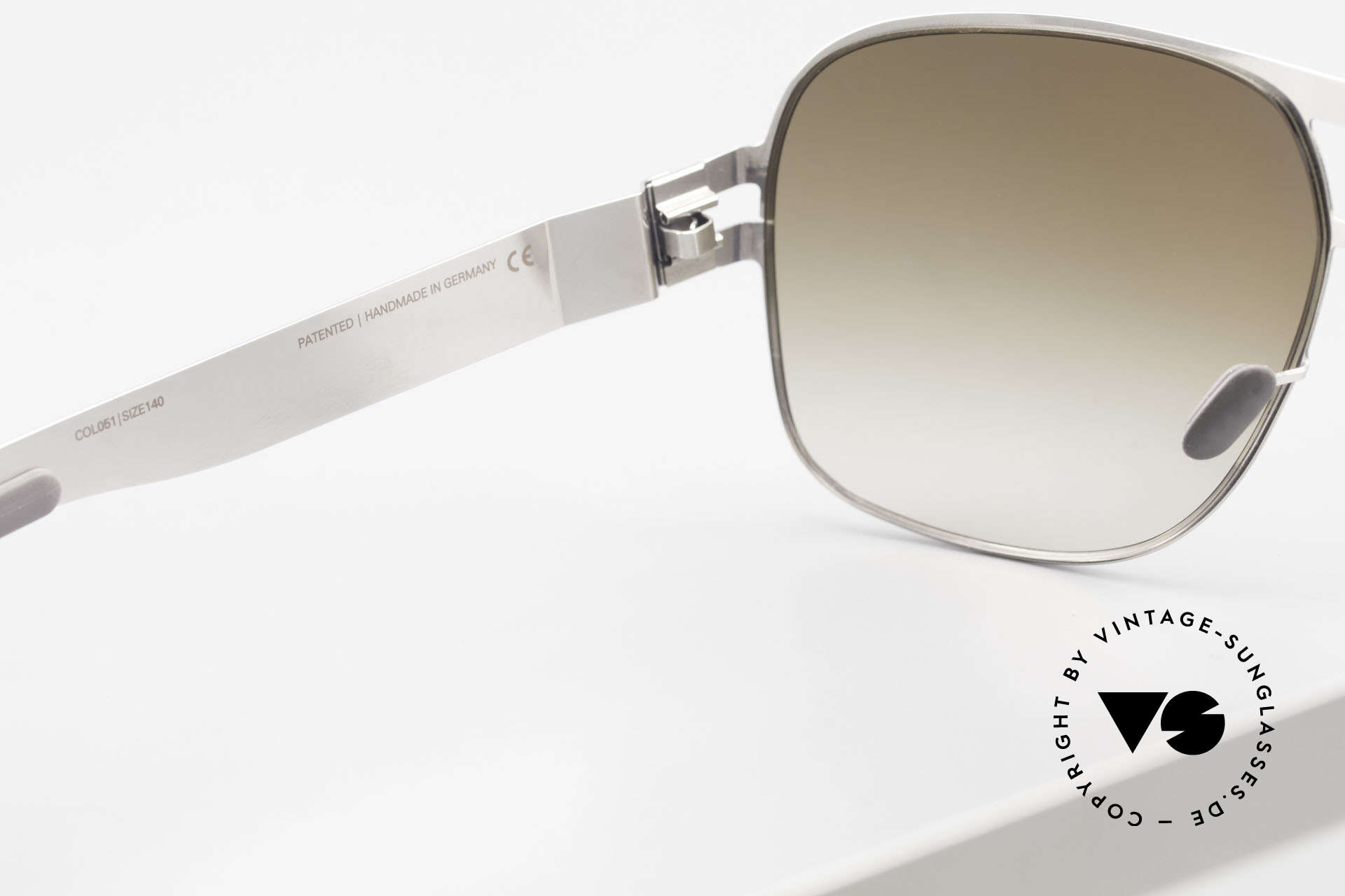 Mykita Clifford 2000er Vintage Aviator Brille, getragen von zahlreichen Promis und inzwischen selten, Passend für Herren