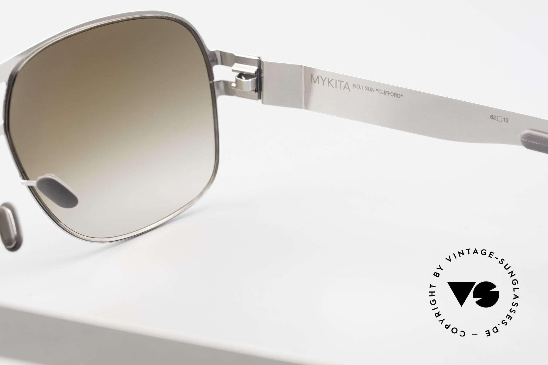 Mykita Clifford 2000er Vintage Aviator Brille, daher jetzt bei uns (natürlich ungetragen und mit Etui), Passend für Herren