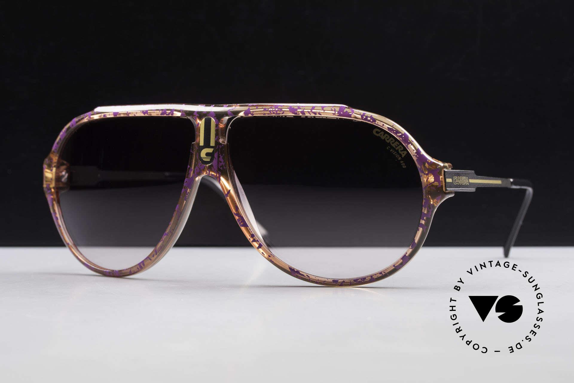 Carrera 5565 Alte Vintage 80er Sonnenbrille, langlebiges Optyl-Material (scheint nicht zu altern), Passend für Herren und Damen