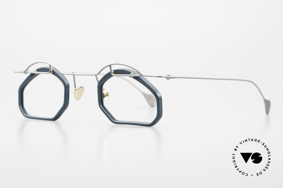 Paul Chiol 12 Kunstbrille Vintage Designer, filigran ausgeklügelte Formen; schlichtweg mondän, Passend für Herren und Damen