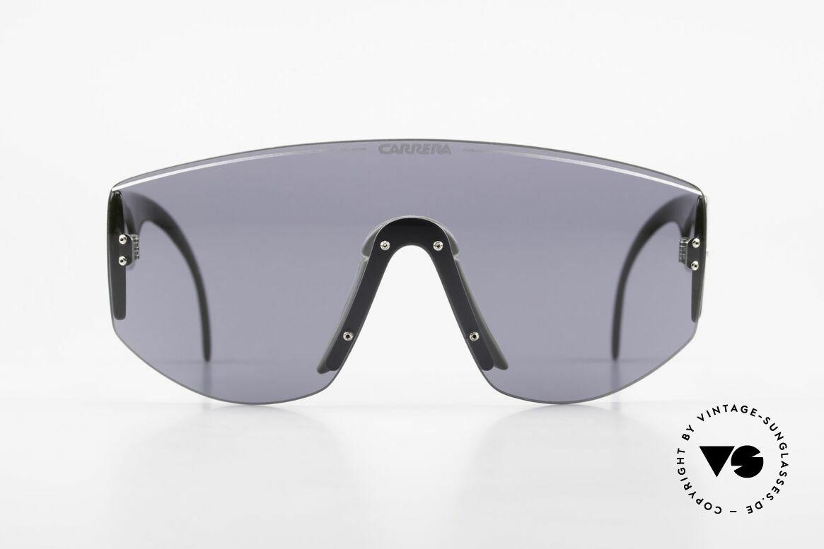 Carrera 5414 Rare Sport Sonnenbrille 90er, rares Modell mit nur einer Scheibe (Shades-Design), Passend für Herren