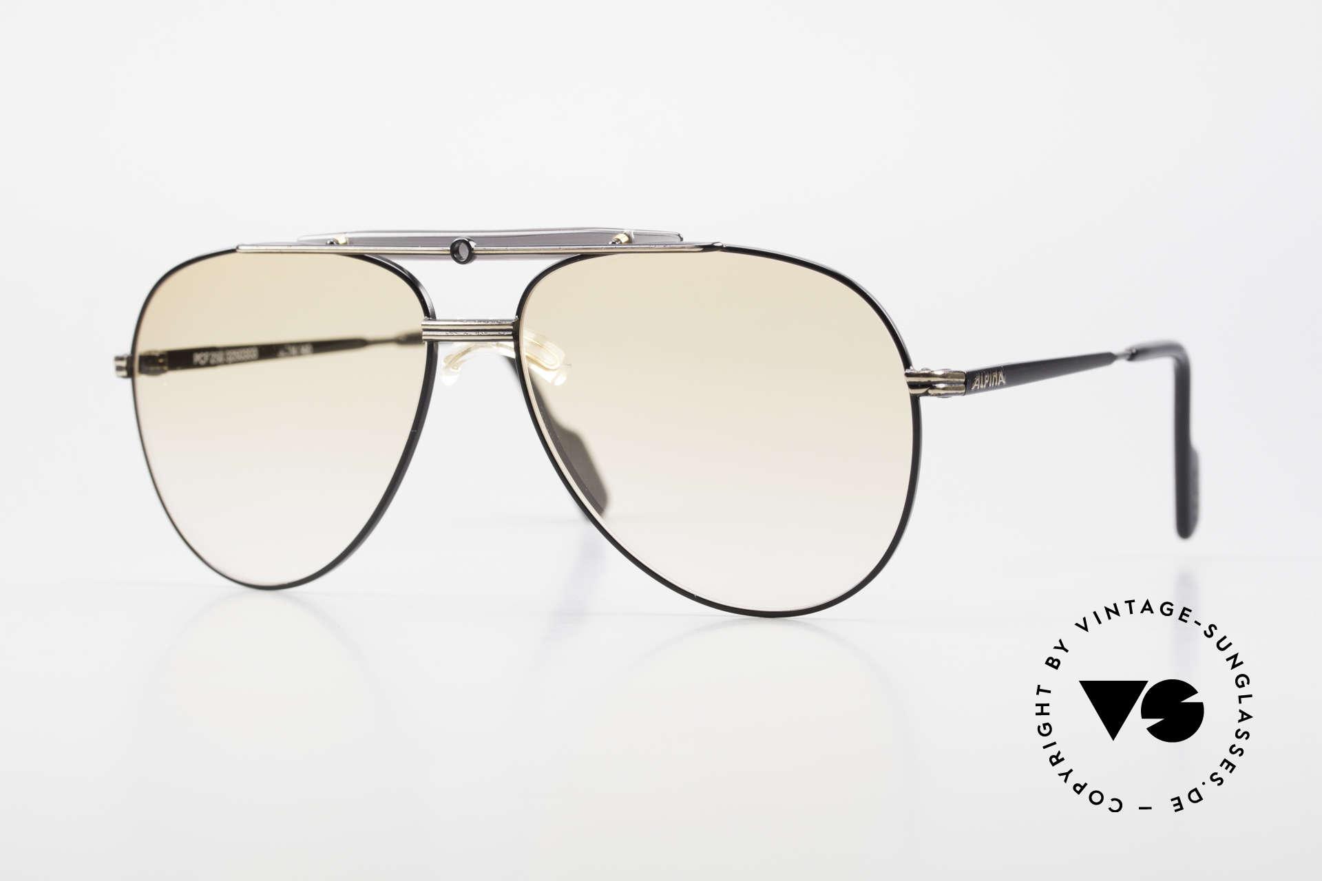 Alpina PCF 250 Sportliche 90er Aviator Brille, Alpina Brille aus der legendären ProCar-Series, Passend für Herren