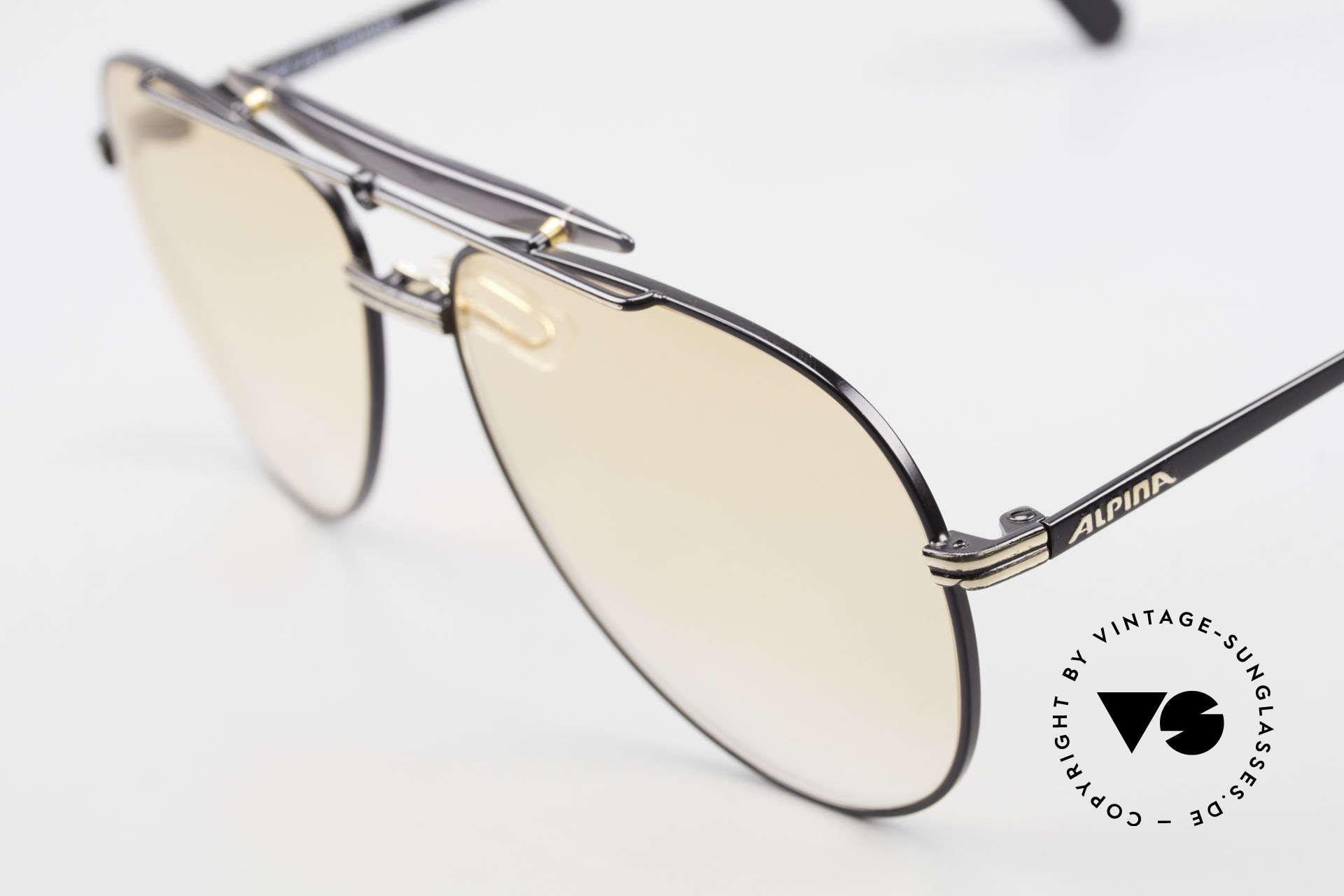 Alpina PCF 250 Sportliche 90er Aviator Brille, ungetragen (wie alle unsere Alpina Fassungen), Passend für Herren