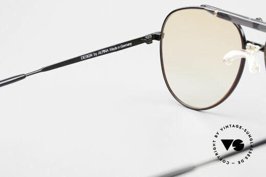 Alpina PCF 250 Sportliche 90er Aviator Brille, Rahmen kann natürlich beliebig verglast werden, Passend für Herren