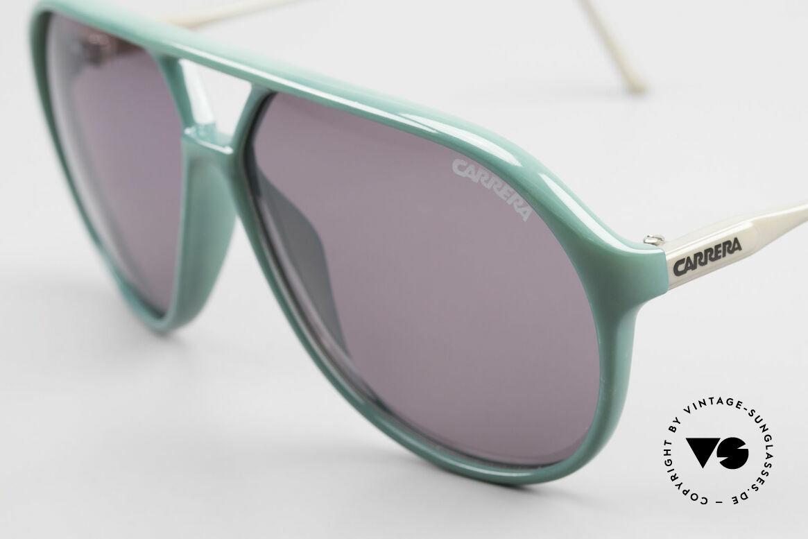 Carrera 5425 80er 90er Sport Lifestyle Brille, 2 Paar Gläser: 1x grün Verlauf C-Vision & 1x grau-solid, Passend für Herren