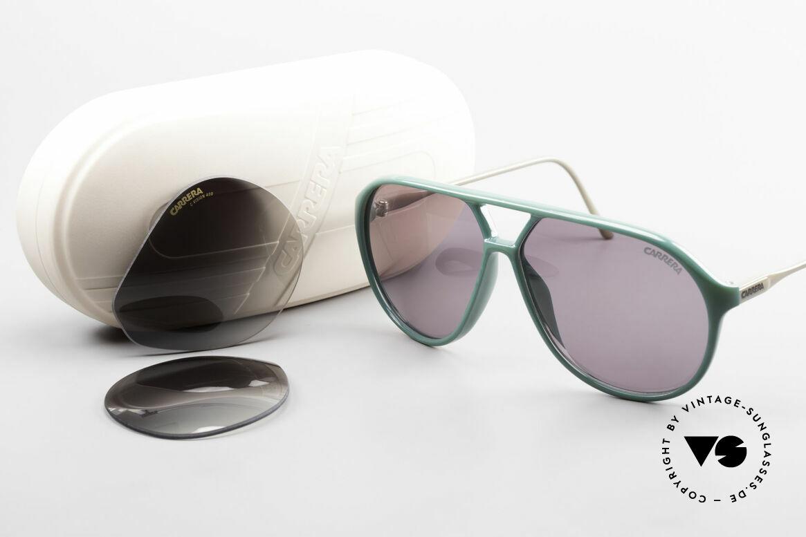 Carrera 5425 80er 90er Sport Lifestyle Brille, Robert De Niro trug ein solches Modell im Film 'Casino', Passend für Herren