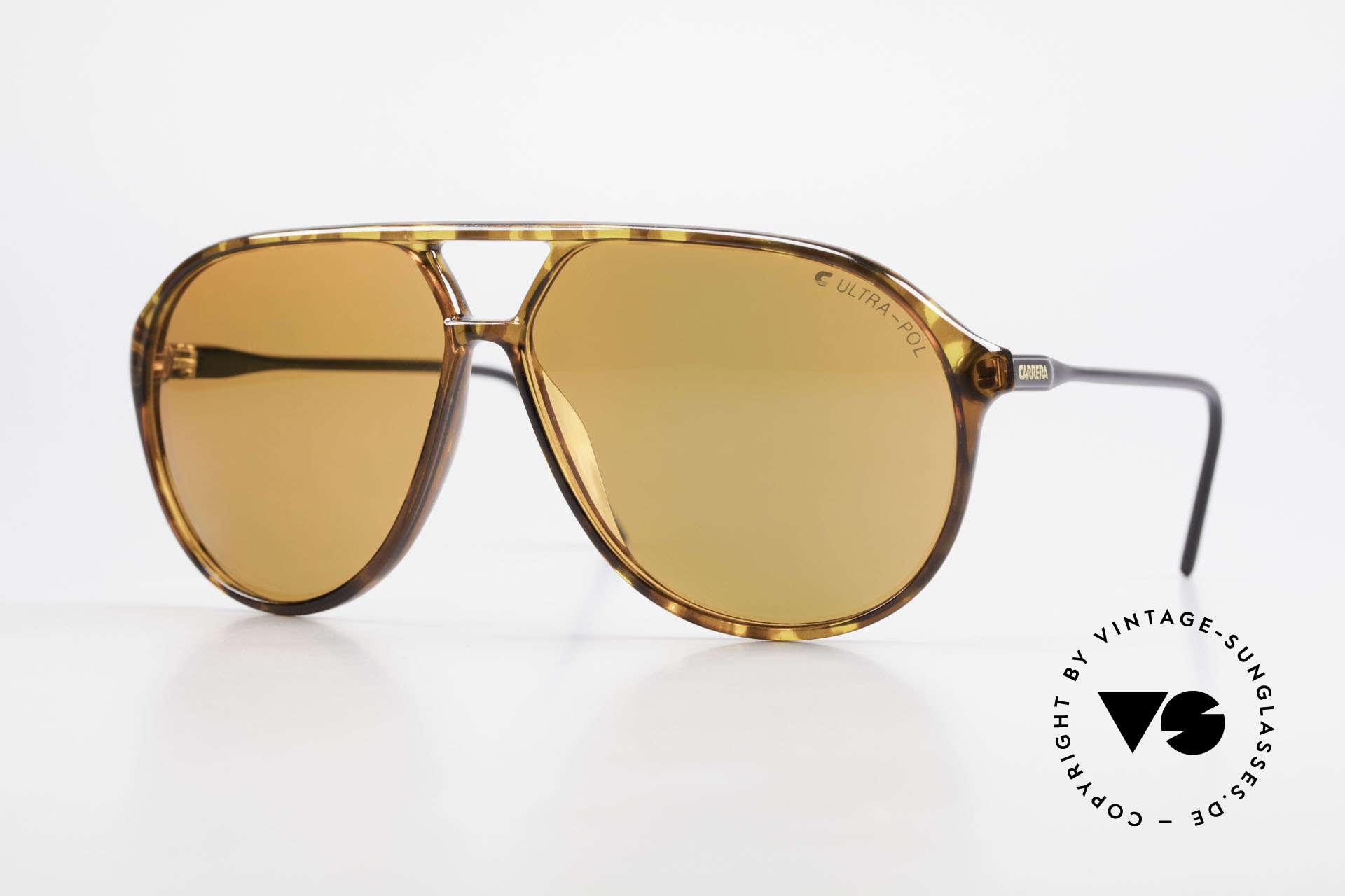 Carrera 5425 Sonnenbrille Polarisierend 80s, vintage Sonnenbrille der Carrera Kollektion 1989/1990, Passend für Herren