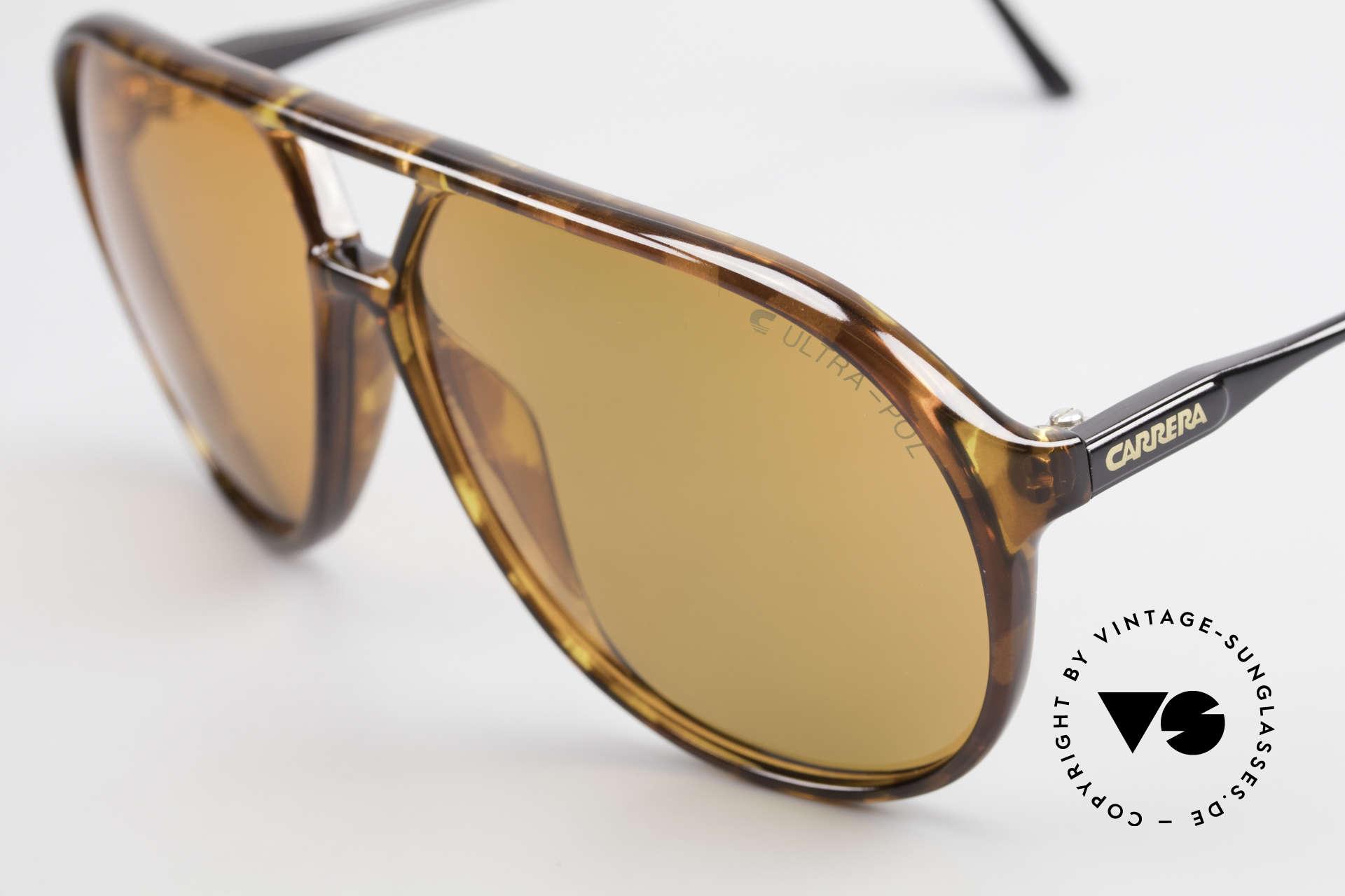 Carrera 5425 Sonnenbrille Polarisierend 80s, 2 Paar Gläser: 1x grün Verlauf C-Vision & 1x ULTRA-POL, Passend für Herren