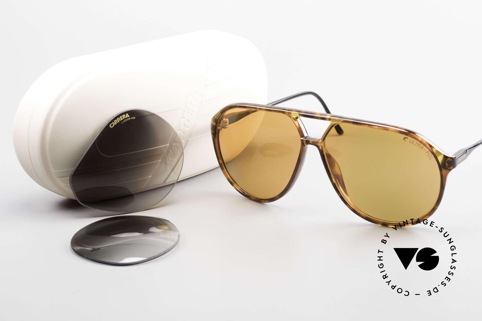 Carrera 5425 Sonnenbrille Polarisierend 80s, Robert De Niro trug ein solches Modell im Film 'Casino', Passend für Herren