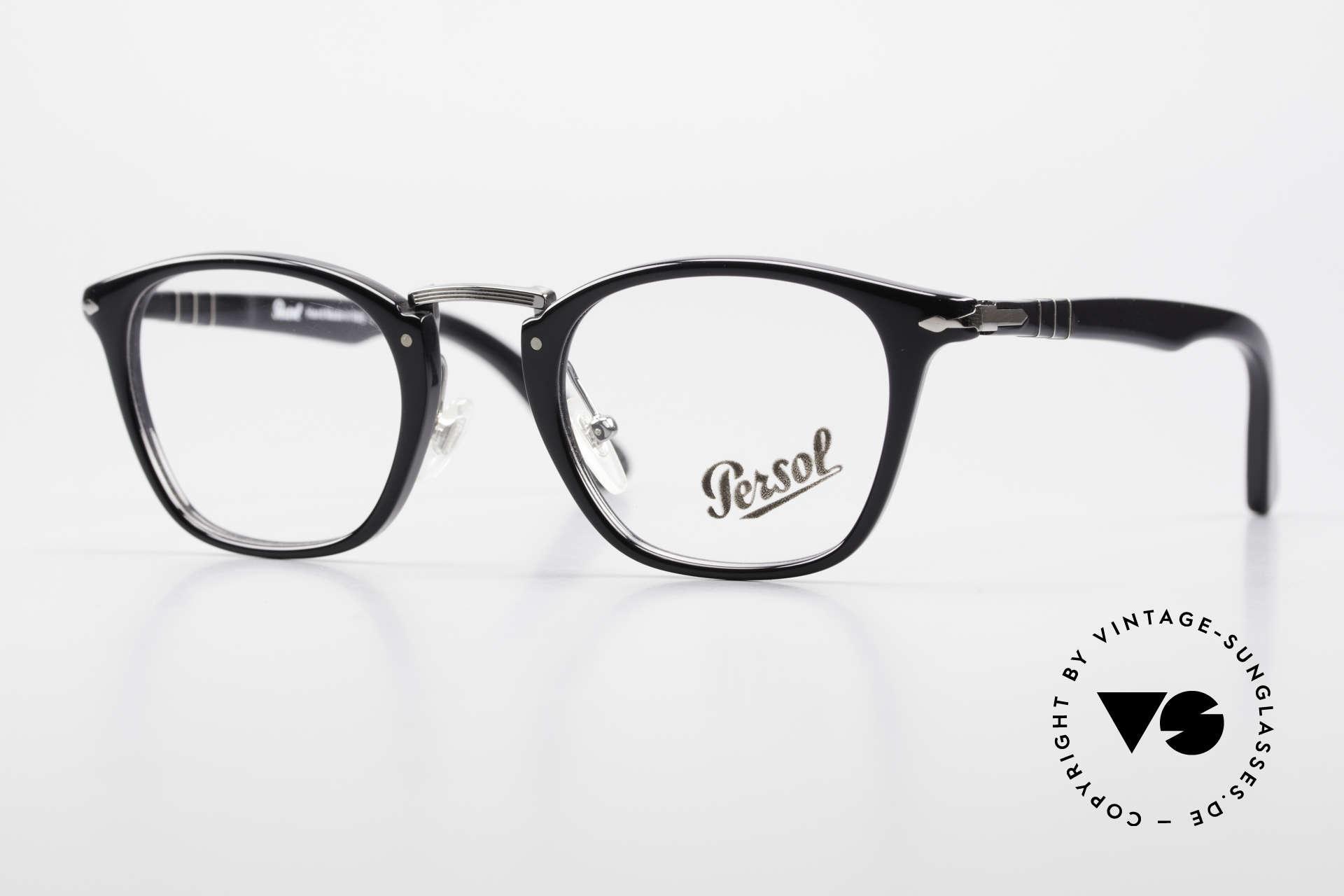 Persol 3109 Typewriter Edition Fassung, sehr elegante, PERSOL Brillenfassung aus Italien, Passend für Herren und Damen