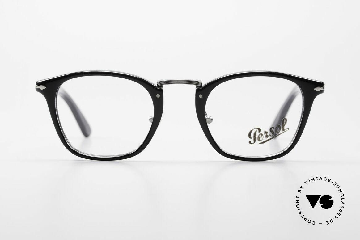 Persol 3109 Typewriter Edition Fassung, klassische Brillenform in einem zeitlosen Design, Passend für Herren und Damen