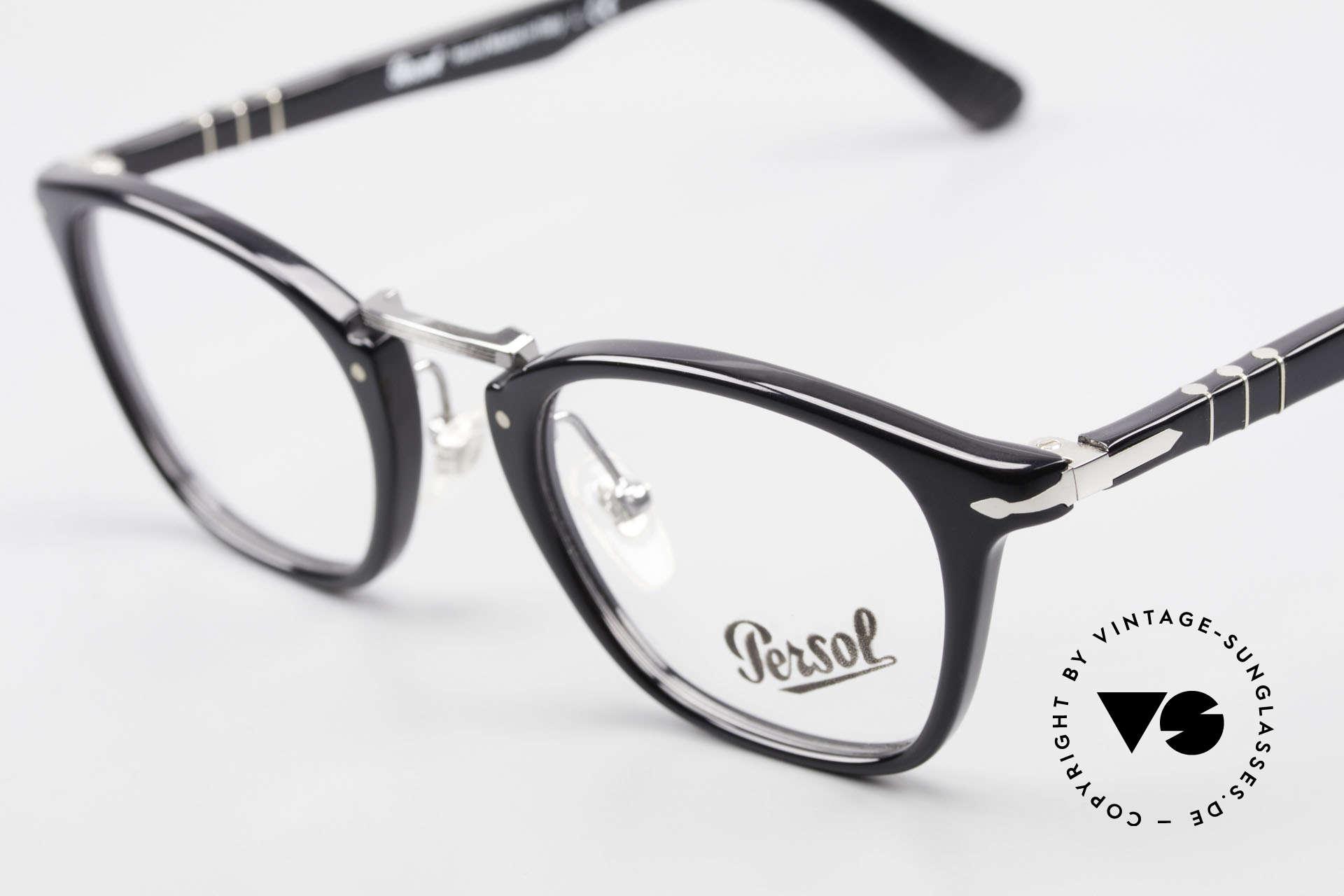 Persol 3109 Typewriter Edition Fassung, ungetragen (wie alle unsere Persol vintage Brillen), Passend für Herren und Damen