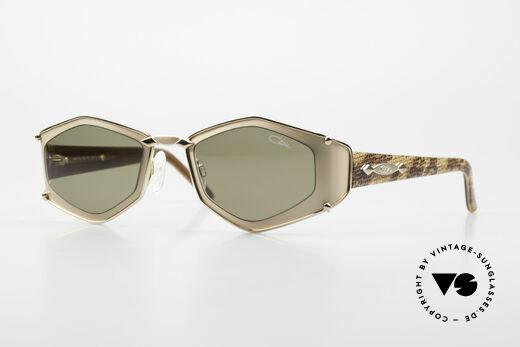 Cazal 912 Schlangenhaut Muster Brille Details