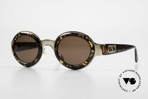 Christian Dior 2037 Runde Damensonnenbrille 90er Details