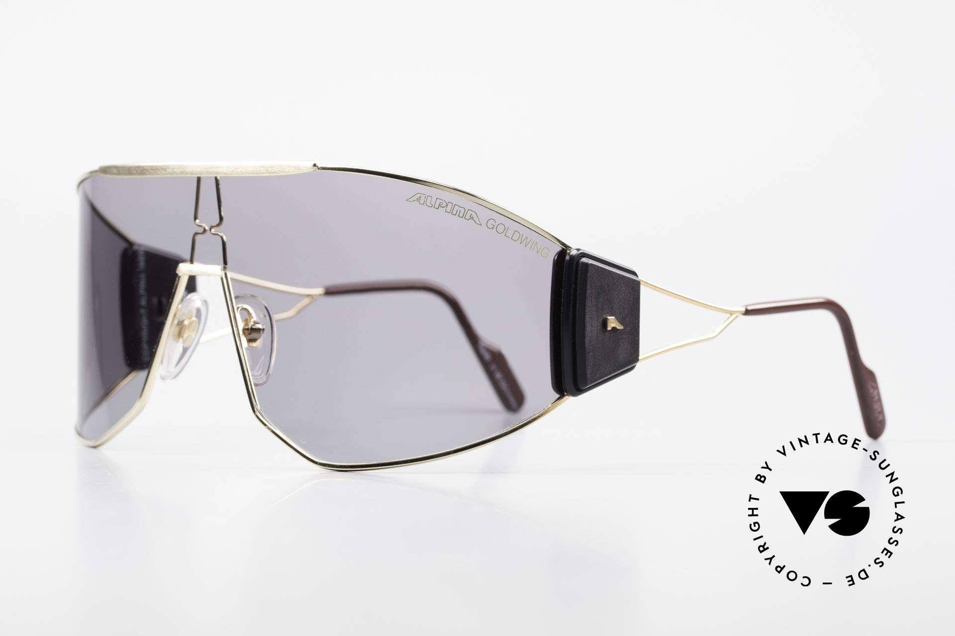 Alpina Goldwing 2nd hand Vintage Sonnenbrille, absolute Rarität aus dem Jahre 1989 (made W.Germany), Passend für Herren und Damen