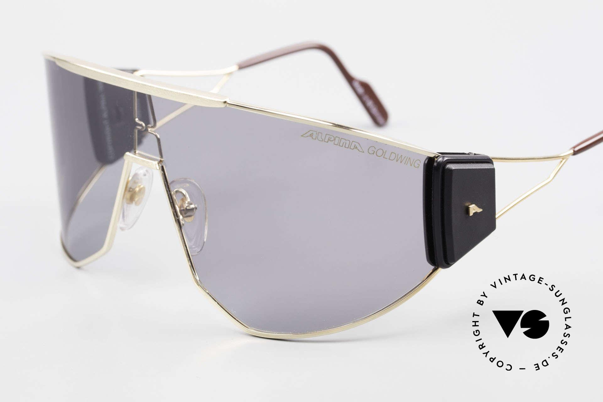 Alpina Goldwing 2nd hand Vintage Sonnenbrille, kleinere Kratzer auf der Scheibe, daher nur 249 Euro!, Passend für Herren und Damen