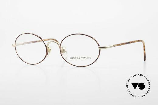 Giorgio Armani 189 Ovale Designerbrille 1990er Details