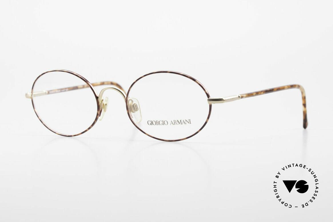 Giorgio Armani 189 Ovale Designerbrille 1990er, vintage Giorgio Armani Brillenfassung aus den 90ern, Passend für Herren