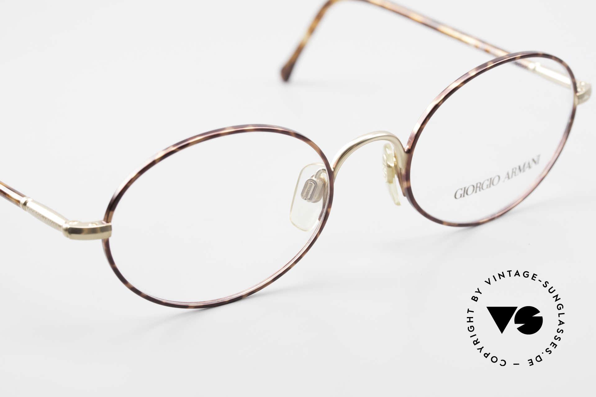 Giorgio Armani 189 Ovale Designerbrille 1990er, KEINE Retromode, sondern ein altes Armani-Original, Passend für Herren