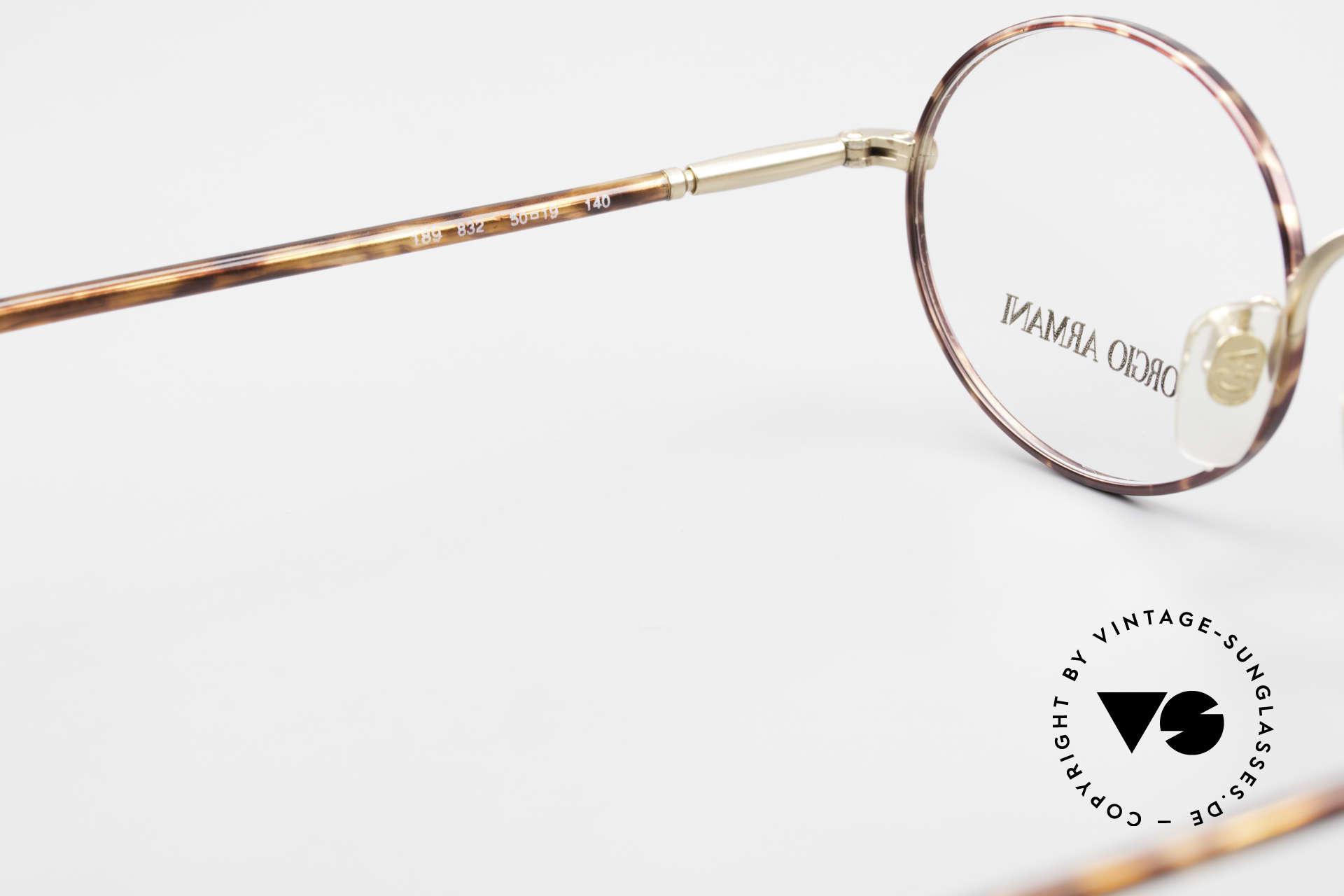 Giorgio Armani 189 Ovale Designerbrille 1990er, DEMOgläser sollten durch optische getauscht werden, Passend für Herren