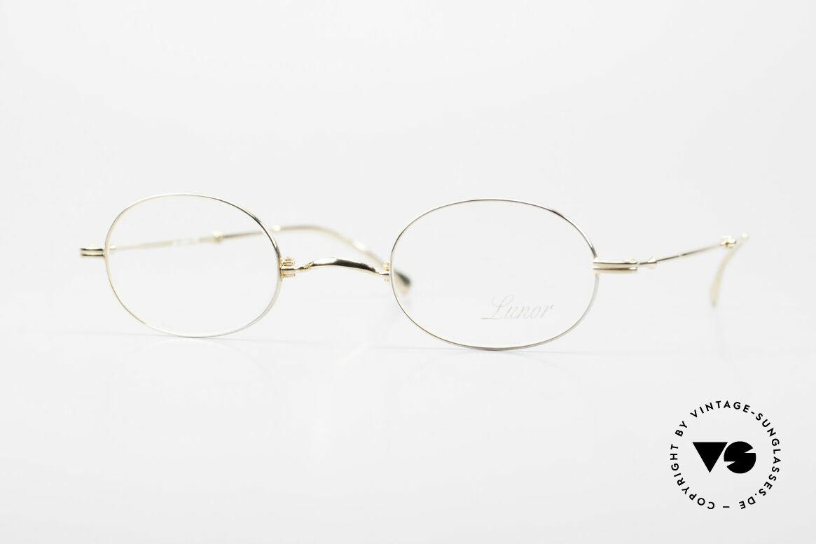 """Lunor XXV Folding 04 Ovale Faltbrille Vergoldet, LUNOR = französisch für """"Lunette d'Or"""" (Goldbrille), Passend für Herren und Damen"""