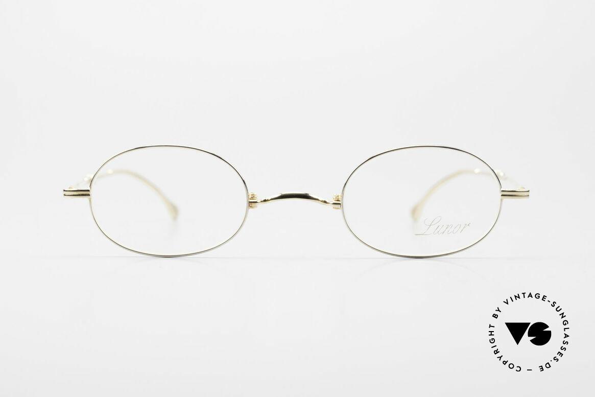 Lunor XXV Folding 04 Ovale Faltbrille Vergoldet, deutsches Traditionsunternehmen; made in Germany, Passend für Herren und Damen