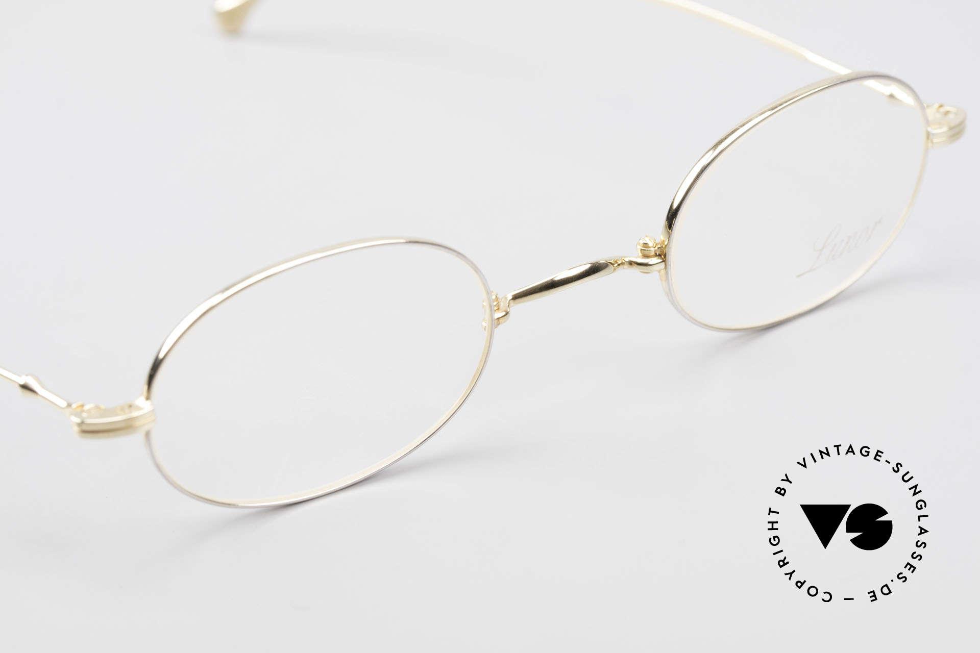 Lunor XXV Folding 04 Ovale Faltbrille Vergoldet, hier das ovale Faltmodell der XXV-Serie; vergoldet!, Passend für Herren und Damen