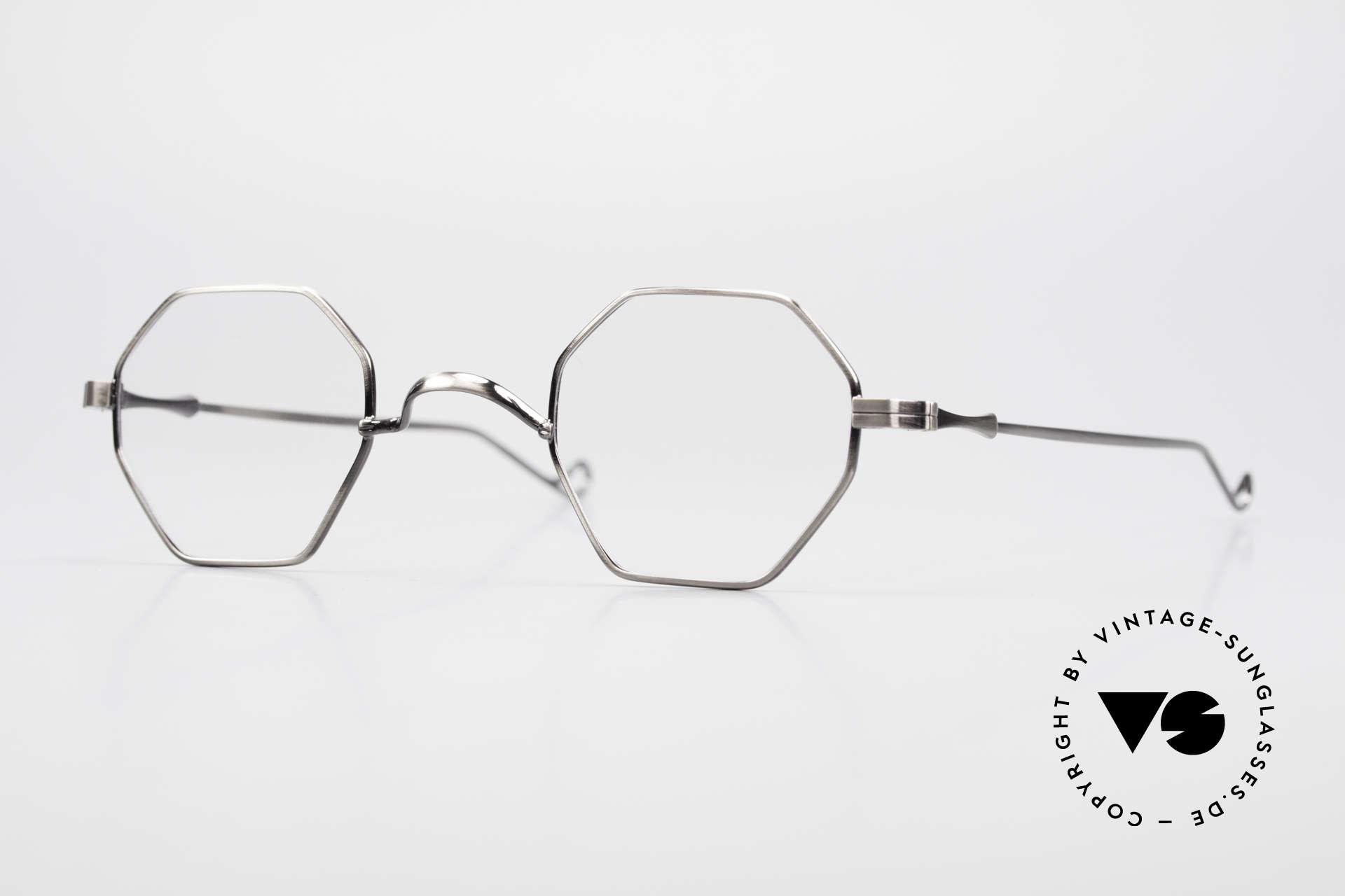 """Lunor II 11 Eckige Pantobrille Sehr Klein, LUNOR = französisch für """"Lunette d'Or"""" (Goldbrille), Passend für Herren und Damen"""