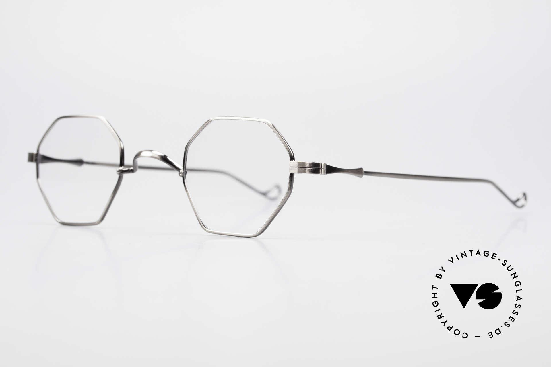 Lunor II 11 Eckige Pantobrille Sehr Klein, Brillendesign in Anlehnung an frühere Jahrhunderte, Passend für Herren und Damen