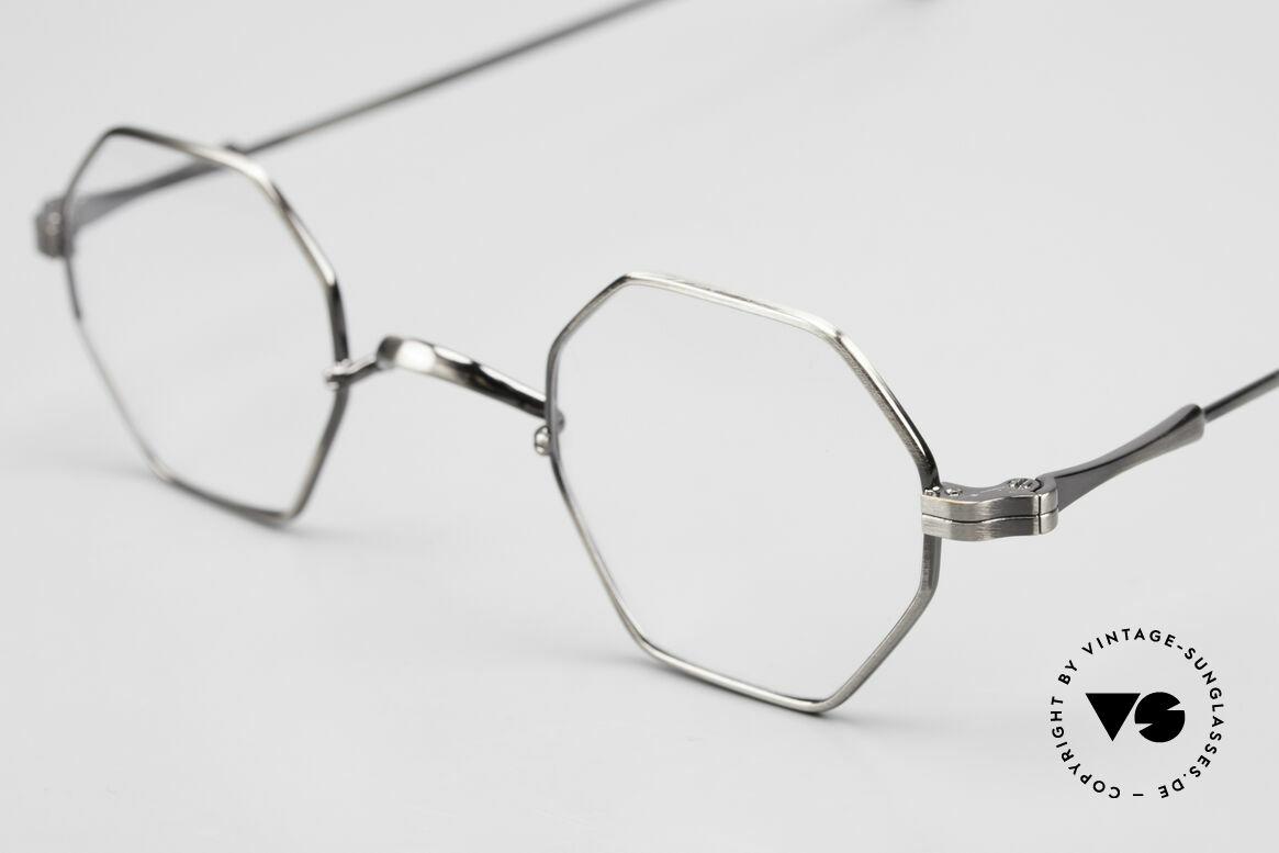 Lunor II 11 Eckige Pantobrille Sehr Klein, bekannt für den W-Steg und die schlichten Formen, Passend für Herren und Damen