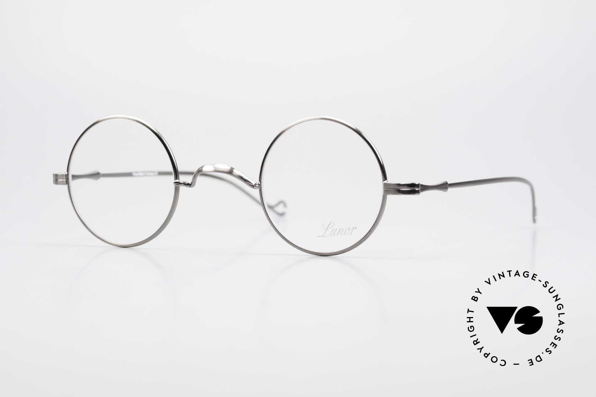 """Lunor II 12 Kleine Runde Luxus Brille, LUNOR = französisch für """"Lunette d'Or"""" (Goldbrille), Passend für Herren und Damen"""