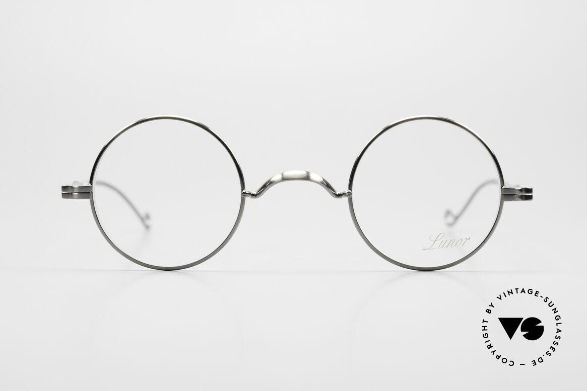 Lunor II 12 Kleine Runde Luxus Brille, deutsches Traditionsunternehmen; made in Germany, Passend für Herren und Damen