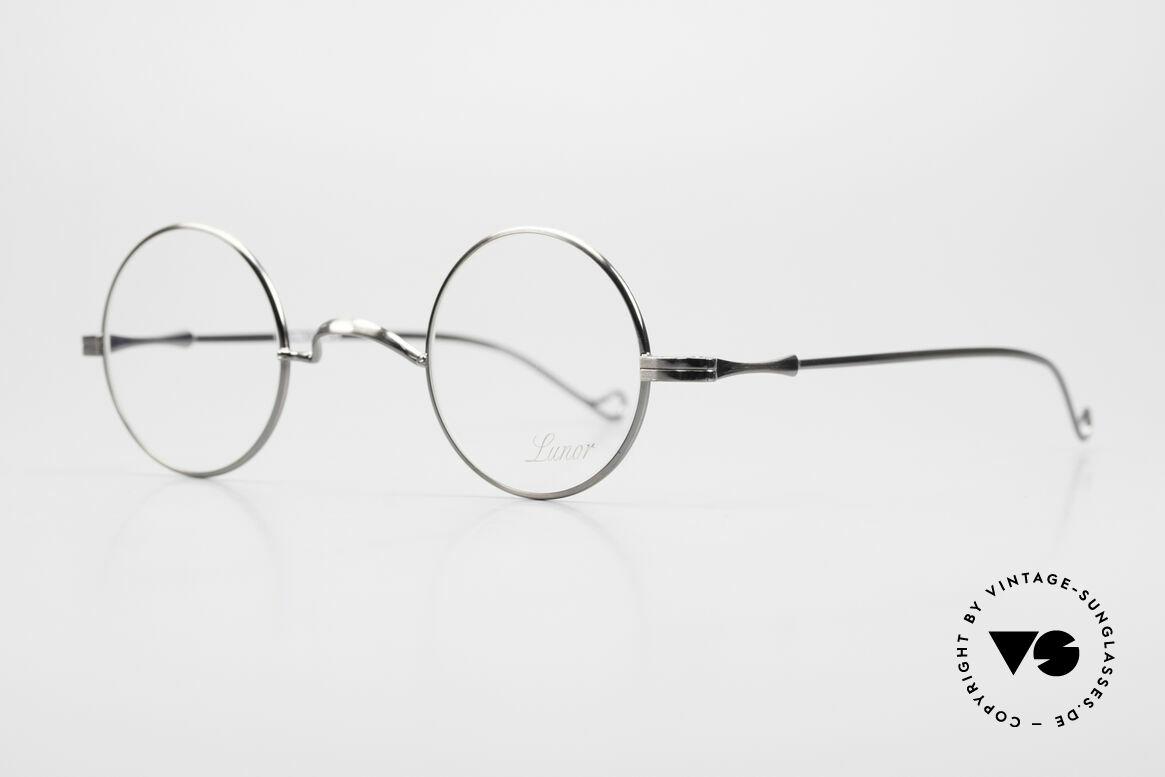 Lunor II 12 Kleine Runde Luxus Brille, Brillendesign in Anlehnung an frühere Jahrhunderte, Passend für Herren und Damen