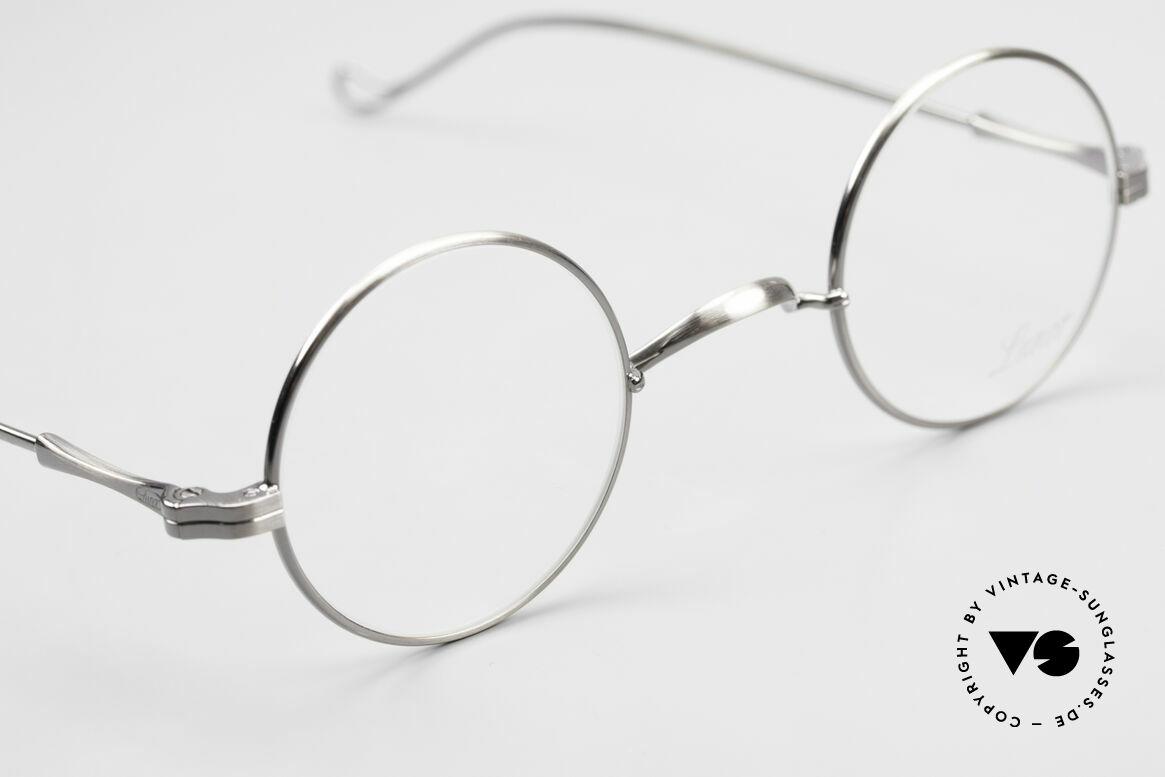 Lunor II 12 Kleine Runde Luxus Brille, altes, ungetragenes LUNOR Einzelstück (RARITÄT!), Passend für Herren und Damen