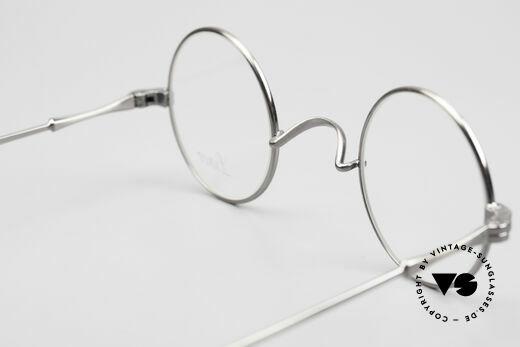 Lunor II 12 Kleine Runde Luxus Brille, klassisch, zeitlos runde Brillenform in ANTIK-Silber, Passend für Herren und Damen