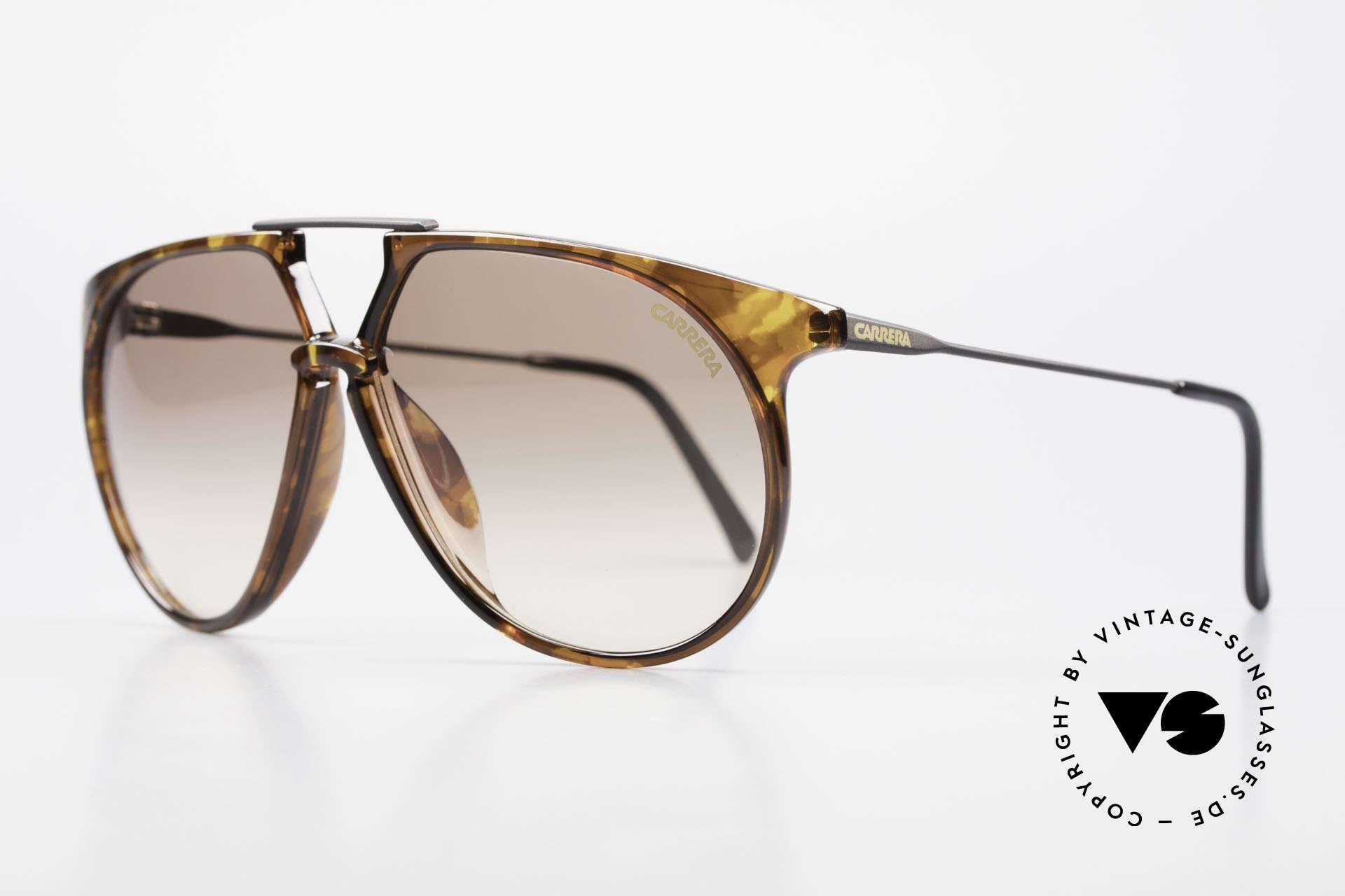 Carrera 5415 80s Sonnenbrille 2 Paar Gläser, absolute Spitzen-Qualität und erstklassiger Komfort, Passend für Herren