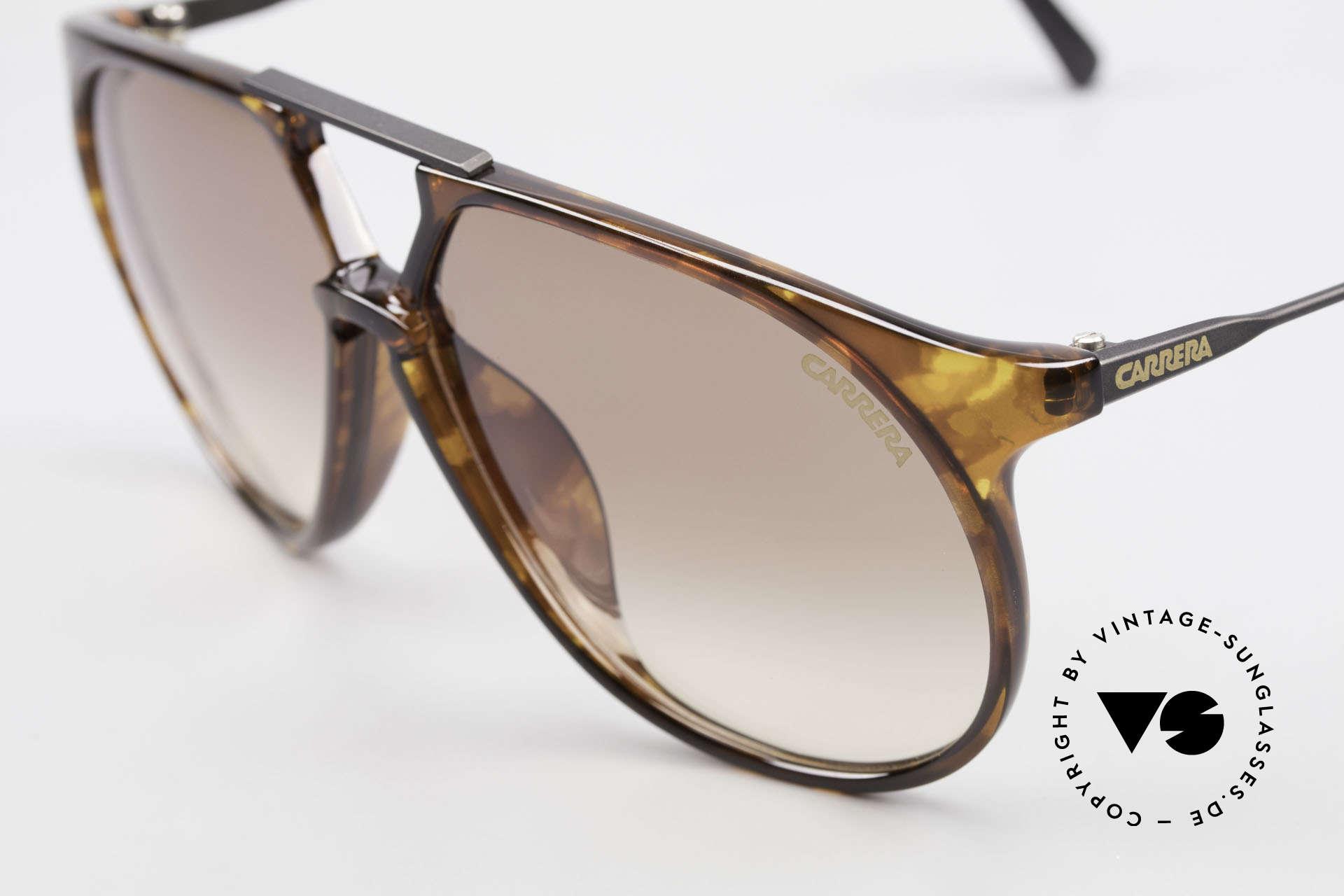 Carrera 5415 80s Sonnenbrille 2 Paar Gläser, 2 Paar Gläser: 1x grau & 1x braun-Verlauf (100% UV), Passend für Herren